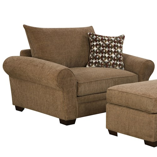 Corinthian 5460 extra large chair and a half for casual styled living room comfort standard Extra large living room chairs