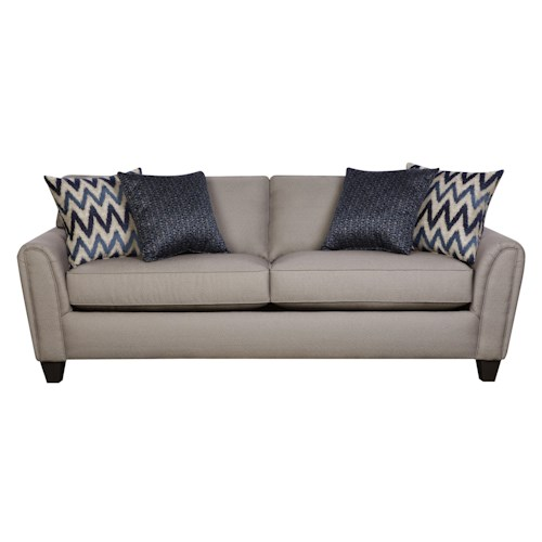 Corinthian 55a0 Casual Contemporary Sofa With Accent