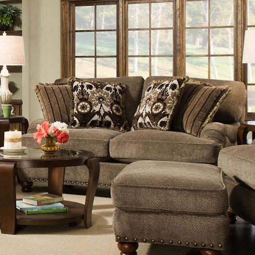 Corinthian 8010 Loveseat With Traditional Style J J