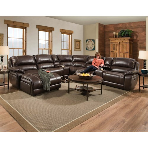 Corinthian 83204 Faulkner 83204 Furniture Fair North Carolina Reclining Living Room Group