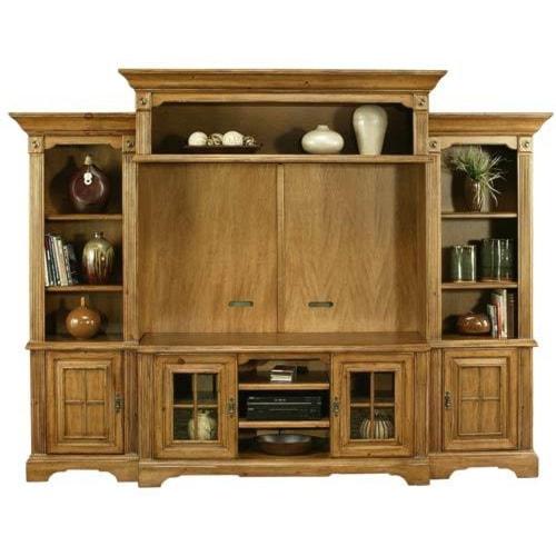 Coronado Seattle Pine Classic Amber 4pc Wall Unit W Backpanel Ivan Smith Furniture Wall Unit