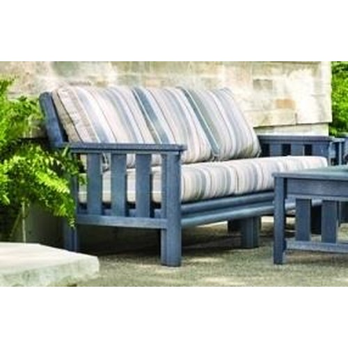 C R Plastic Products Stratford Outdoor Sofa Dunk Bright Furniture Outdoor Sofa