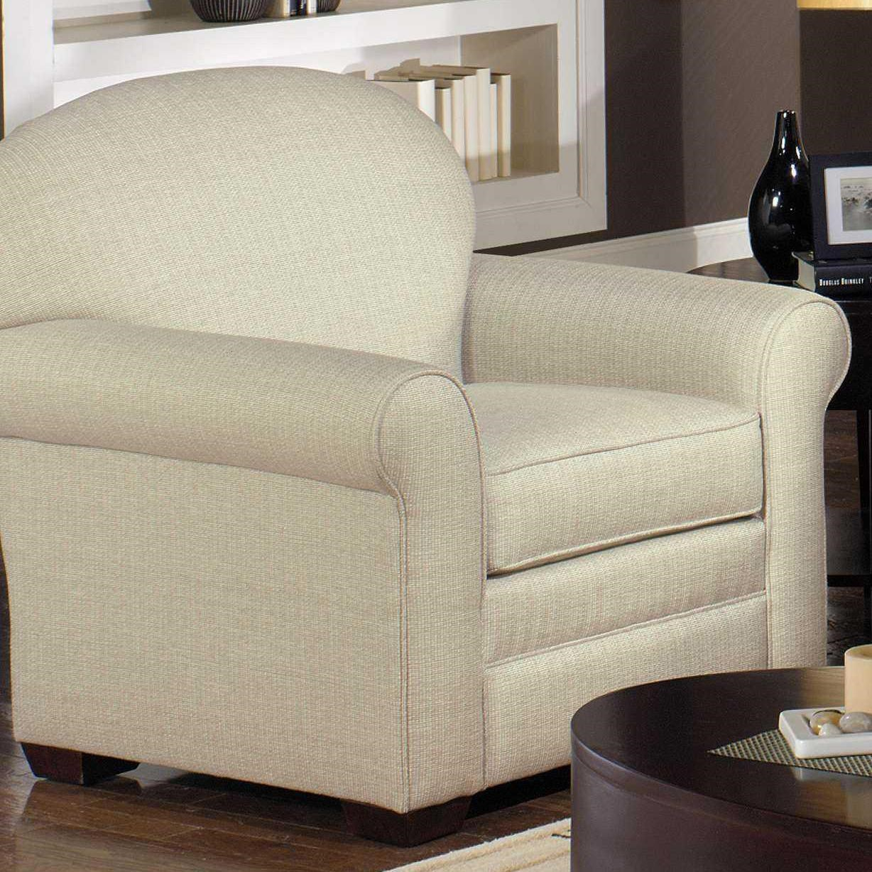 Hickory Craft 718550 Upholstered Sock Arm Chair