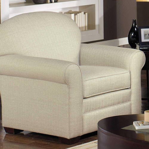 Hickory Craft 718550 Upholstered Sock Arm Chair Godby Home Furnishings Upholstered Chairs