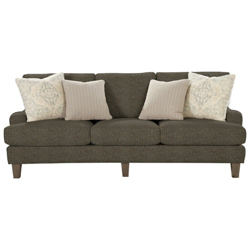 Hickory Craft 743000 Transitional Sofa With English Arms Godby Home Furnishings Sofas
