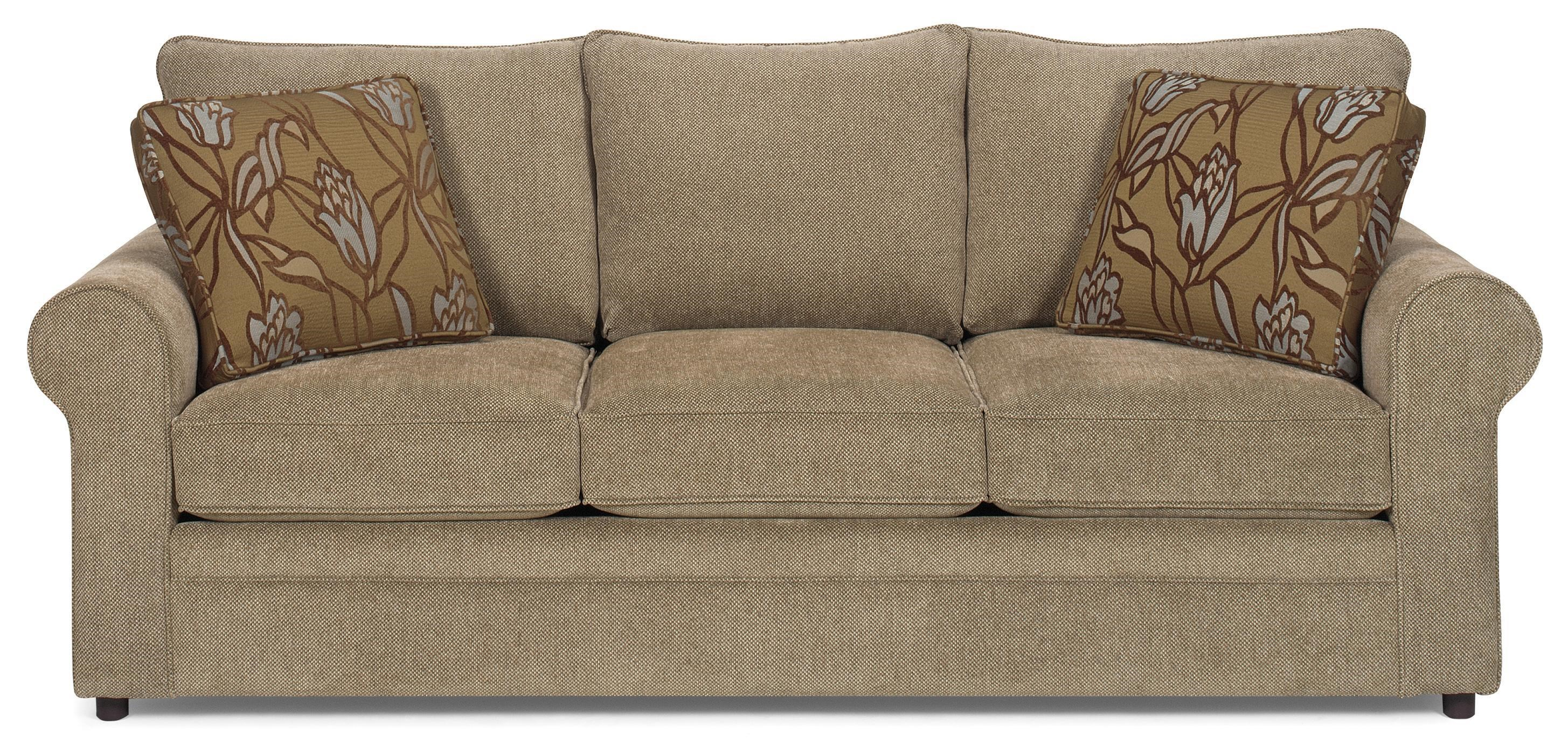Cozy Life Casual Stationary Sofa with Sock Arms