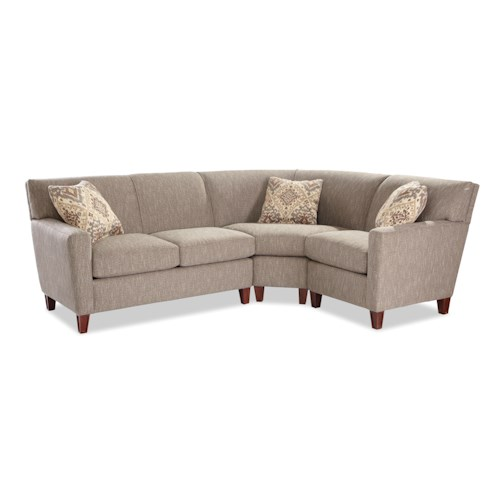 Sectional Sofas In Hickory Nc: Hickory Craft 7864 Three Piece Sectional Sofa With LAF