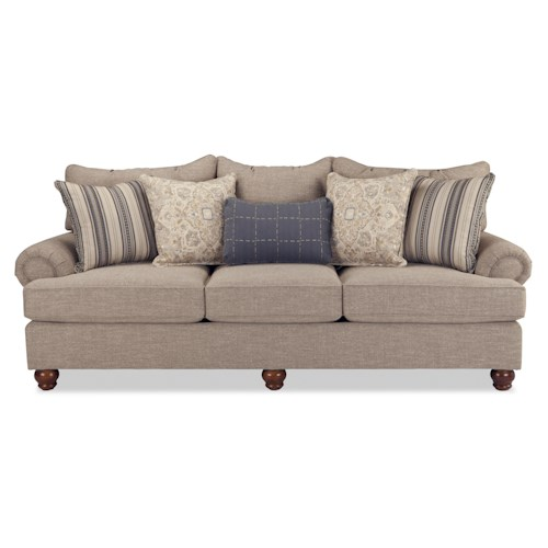 Cozy Life Westgate Traditional Sofa With Exposed Wood Feet