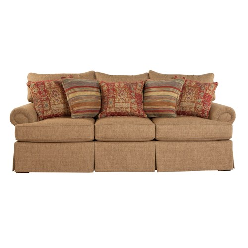 Craftmaster 9275 Loose Pillow Back Sofa With Rolled Arms