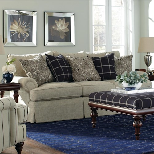 Loose Pillow Back Sofa: Craftmaster 9275 Loose Pillow Back Sofa With Rolled Arms