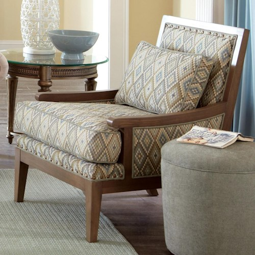 Craftmaster Accent Chairs Exposed Wood Accent Chair Hudson S Furniture Exposed Wood Chair