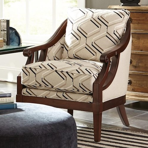Craftmaster Accent Chairs Traditional Wood Framed Accent