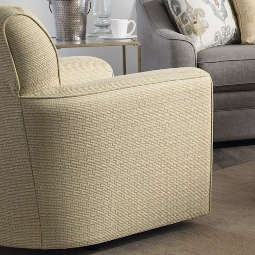 Craftmaster Accent Chairs Contemporary Upholstered Swivel