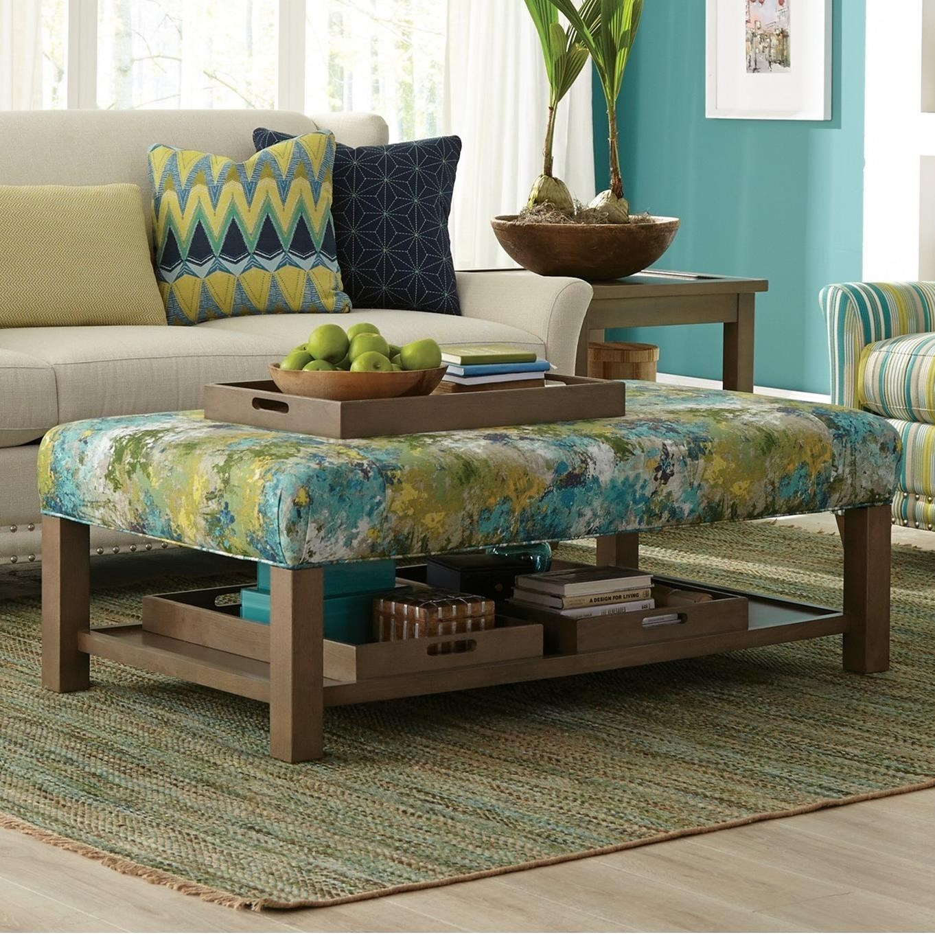 Craftmaster Accent Ottomans Contemporary Storage Bench