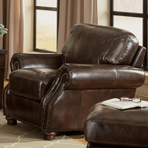 Hickory Craft L161100 Traditional Chair With Rolled Arms Godby Home Furnishings Upholstered