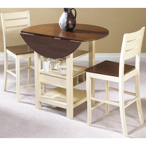 Cramco inc cascade 3 piece pub set value city furniture pub table and stool set - Organizational furniture for small spaces set ...