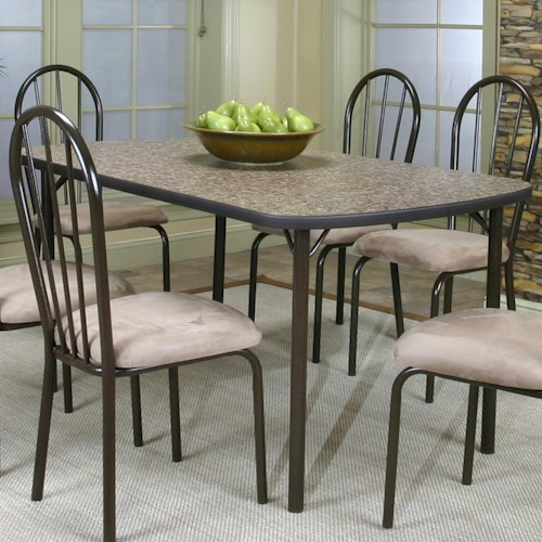 Cramco inc cramco dinettes heath woodstock granite laminate top table darvin furniture - Laminate kitchen tables ...