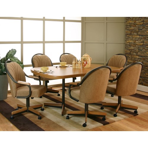 Cramco Inc Shaw Dining Table 6 Arm Chairs Johnny