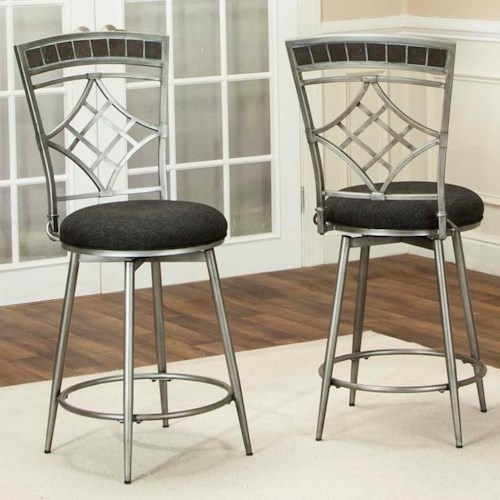 Cramco Inc Triumph 24 Swivel Counter Height Stool Value City Furniture Bar Stools