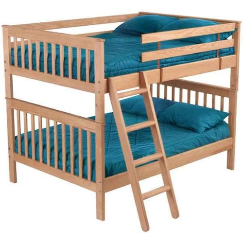 Crate Designs Pine Bedroom Mission Style Double Over Double Bunk Bed Jordan 39 S Home Furnishings
