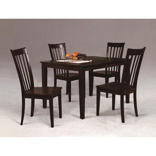 Crown Mark Brody Casual Contemporary Five Piece Dining Set Miskelly Furniture Dining 5 Piece