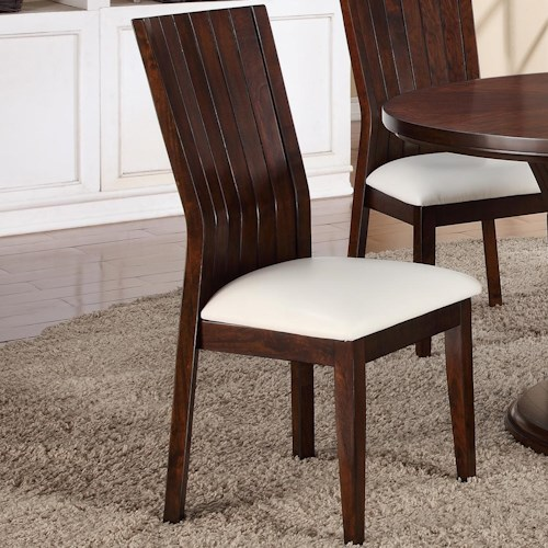 Crown Mark Daria Dining Side Chair With Upholstered Seat Dunk Bright Furniture Dining Side