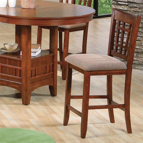 Crown Mark Empire 2185s Oak Counter Height Side Chair Del Sol Furniture Bar Stools Phoenix