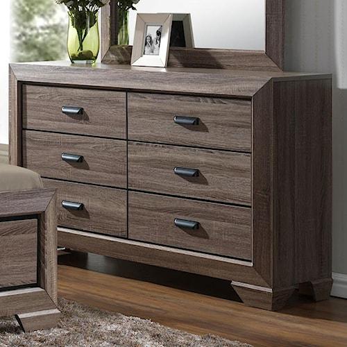 Cordova Bedroom Set: Crown Mark Farrow Dresser