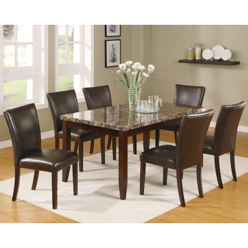 Ashley Furniture Fayetteville: Crown Mark Ferrara 7 Piece Dining Table And Chairs Set