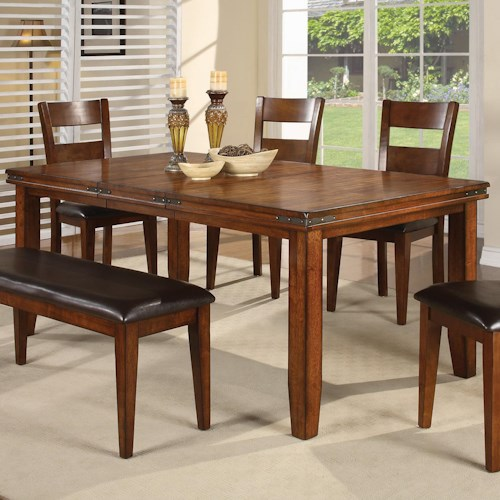 crown mark figaro rectangular leg dining table miskelly