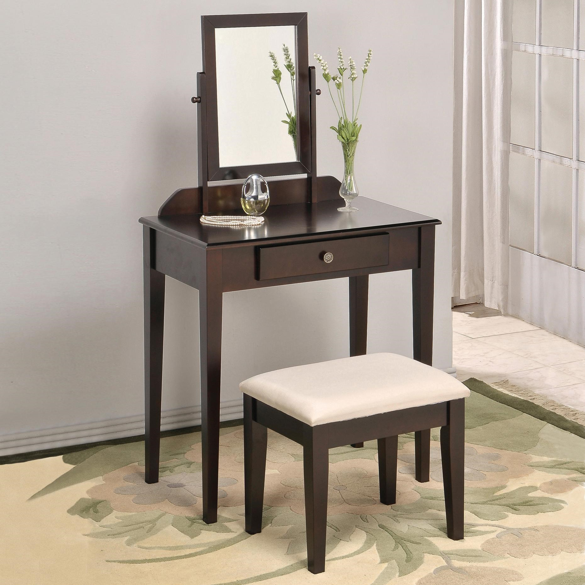 Crown Mark Iris Vanity Table Amp Stool Superstore Vanity