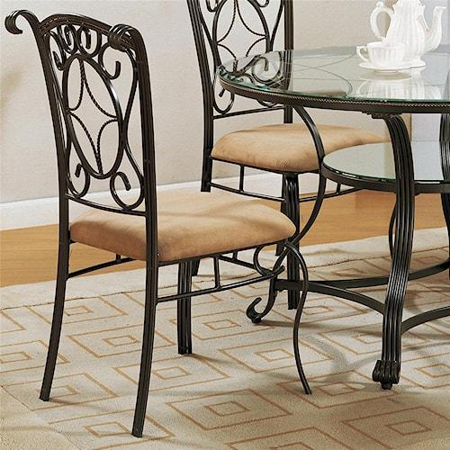 crown mark jessica 1843s side chair del sol furniture