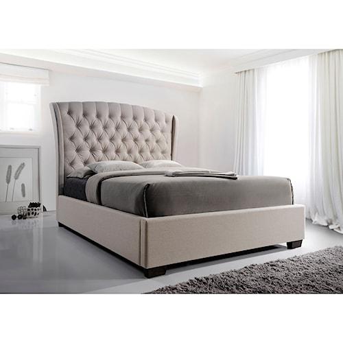 Crown mark kaitlyn queen headboard and footboard bed for Royal headboard