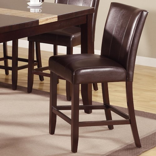 Crown Mark Madrid Ferrara 2723s 24 Upholstered Counter Height Chair Del Sol Furniture Bar