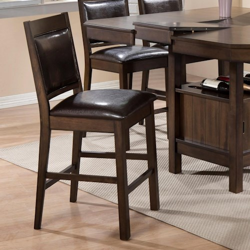 Crown Mark Marlow Upholstered Counter Height Chair Furniture Fair North Carolina Bar Stool