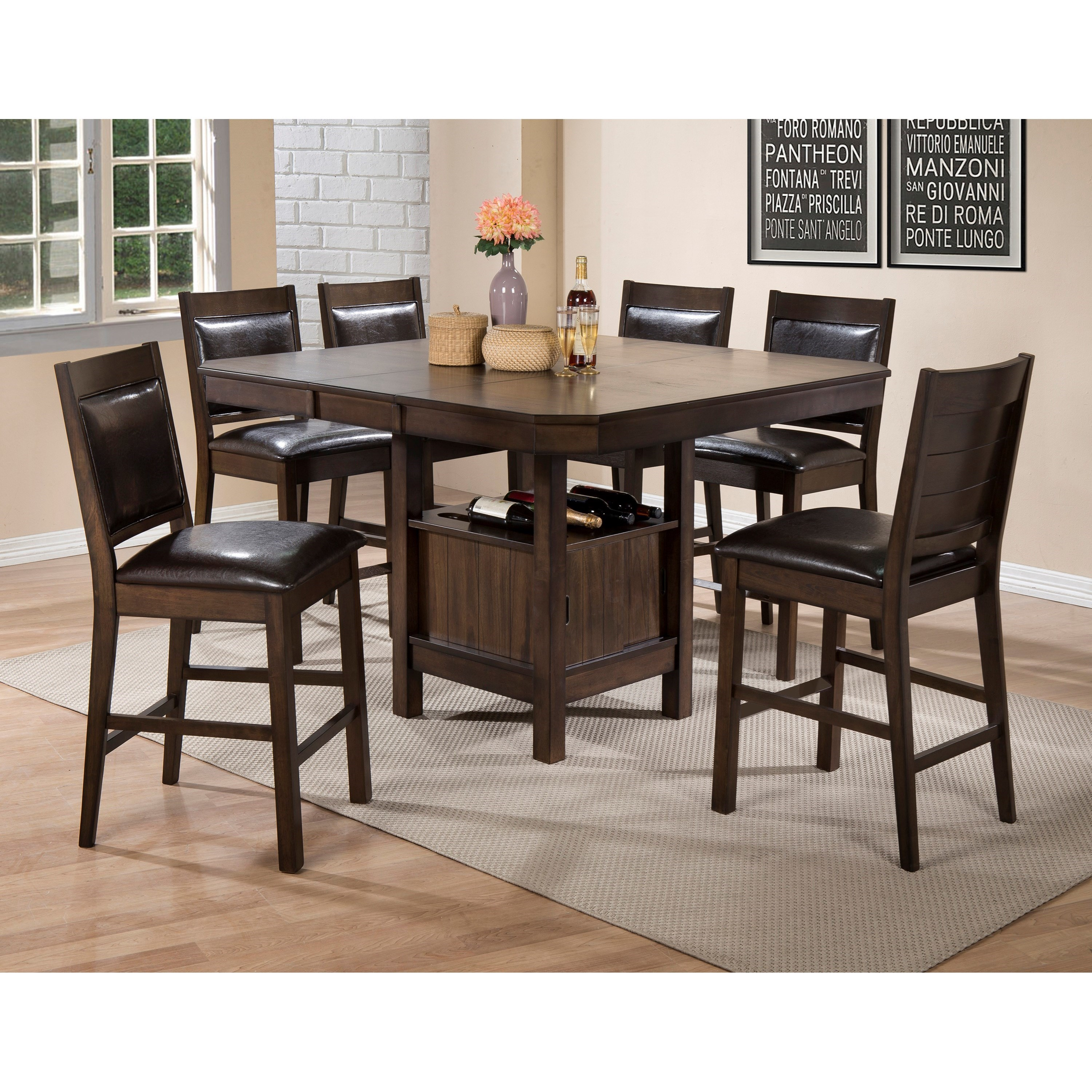 Crown Mark Marlow Counter Height Table and Chair Set with  : marlow 8291615812847t 5454 topleg6x2847s 24 b1jpgscalebothampwidth500ampheight500ampfsharpen25ampdown from www.furniture-fair.net size 500 x 500 jpeg 59kB