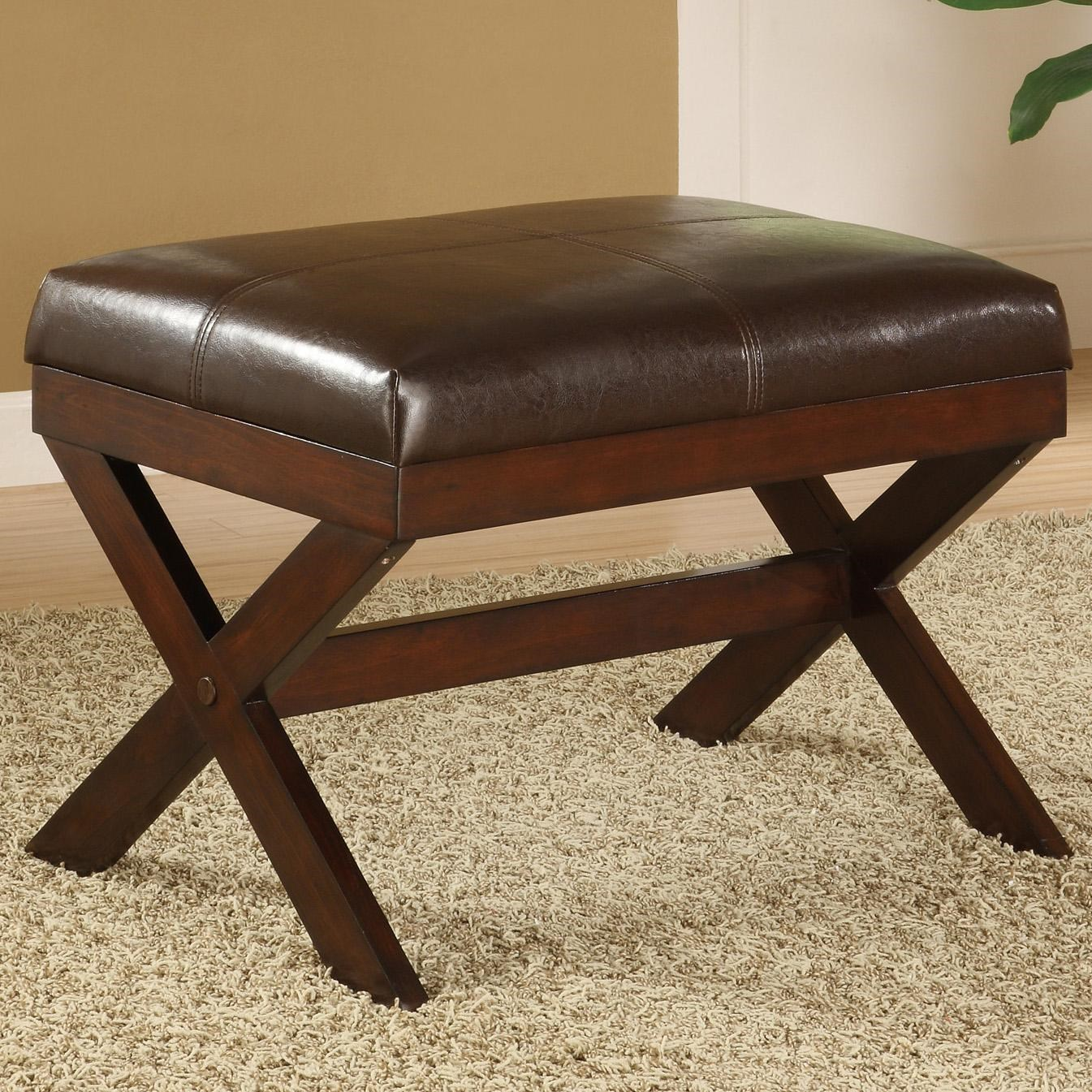 Crown Mark Miscellaneous Upholstered Seat Bench - Ivan Smith Furniture - Ottomans