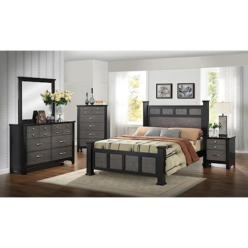 Crown Mark Reagan Queen Bedroom Group Del Sol Furniture