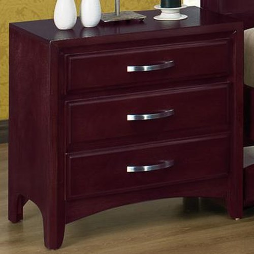 Crown Mark Vera 3 Drawer Night Stand Furniture Fair North Carolina Night Stand