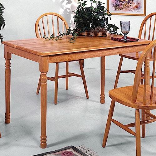 Crown Mark Windsor Solid Slim Rectangular Leg Dining Table