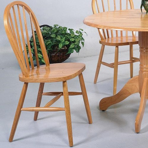 Solid Oak Windsor Chairs ~ Crown mark windsor solid light oak dining side chair