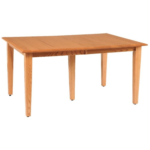 Daniel 39 s amish shaker 36 x 48 rectangle table top w two for Dining room table 36 x 48