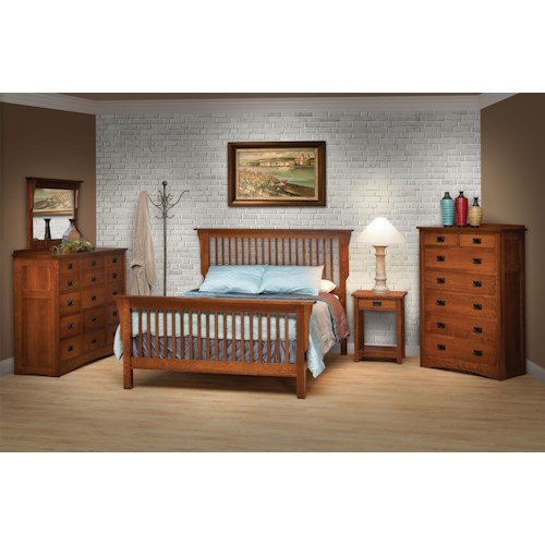 Daniel S Amish Amish Mission Queen Bedroom Group 1 John