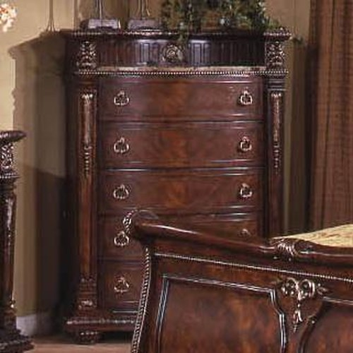 Davis Direct Conventry Traditional 5-Drawer Chest With