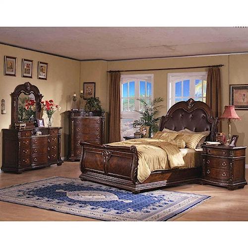 Davis Direct Conventry King Sleigh Bed Dresser Mirror