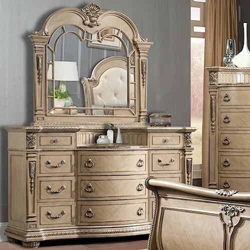 Davis Direct Monaco Traditional Elegantly Carved Dresser