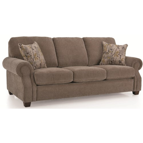 Decor Rest 2279 Casual Rolled Arm Sofa Godby Home Furnishings Sofas Noblesville Carmel