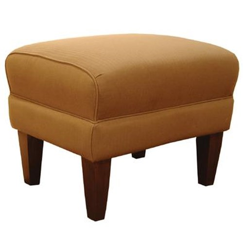 Decor Rest 2290 Ottoman With Exposed Wood Legs Godby