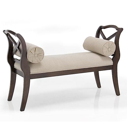 Decor Rest Carmela Carmela Linen Accent Sleigh Bench Sheely 39 S Furniture Appliance