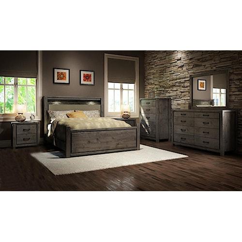 Defehr series 697 queen bedroom group stoney creek for Stoney creek bedroom set